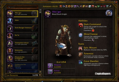 All 25 of my followers are level 645 or higher now. What to do with all the 615 gear?