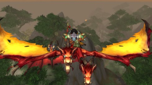 That's me and my shiny new Skyterror mount FLYING OVER DRAENOR!